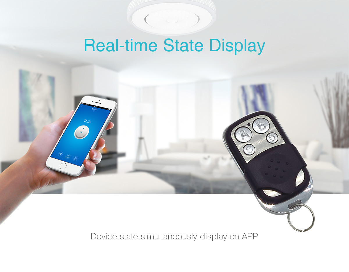 Sonoff RF-WiFi 433Mhz Wireless Remote Smart Switch Intelligent Timing schedule unlimited devices