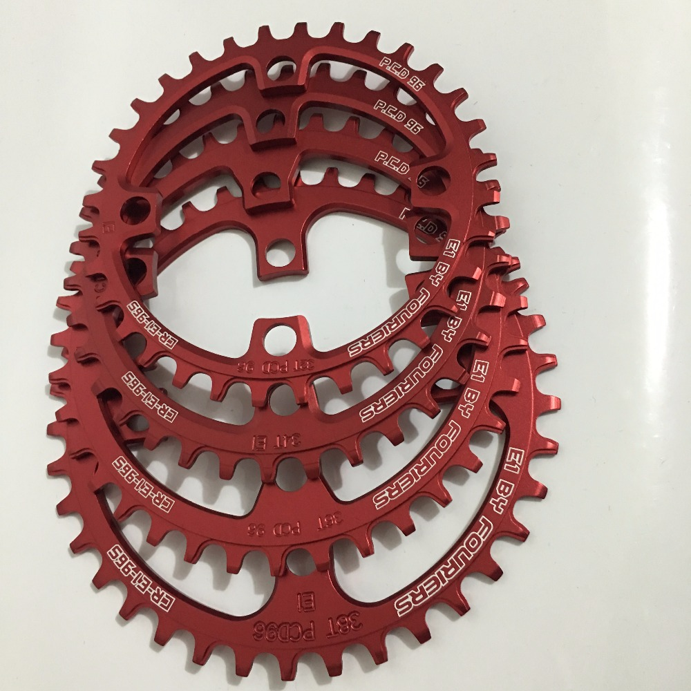 FOURIERS CR-E1-96S 96 BCD <font><b>32T</b></font> 34T 36T 38TA7075-T651 Alloy Bike Chain-rings Chainwheel MTB Road Cycle Crankset PartsG image