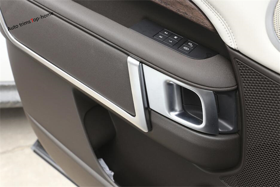 Yimaautotrims For Land Rover L462 Discovery 5 2017 2018 ABS Inner Door Armrest Decoration Frame Cover Interior Mouldings Trim купить