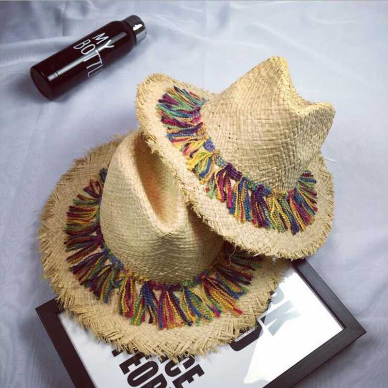 Summer Women To Prevent Outside The Sun Hat Xiangyan Ring Straw Hat Girl Retro Beach Panama Hat Chapeu Feminino Soft Hat Jazz