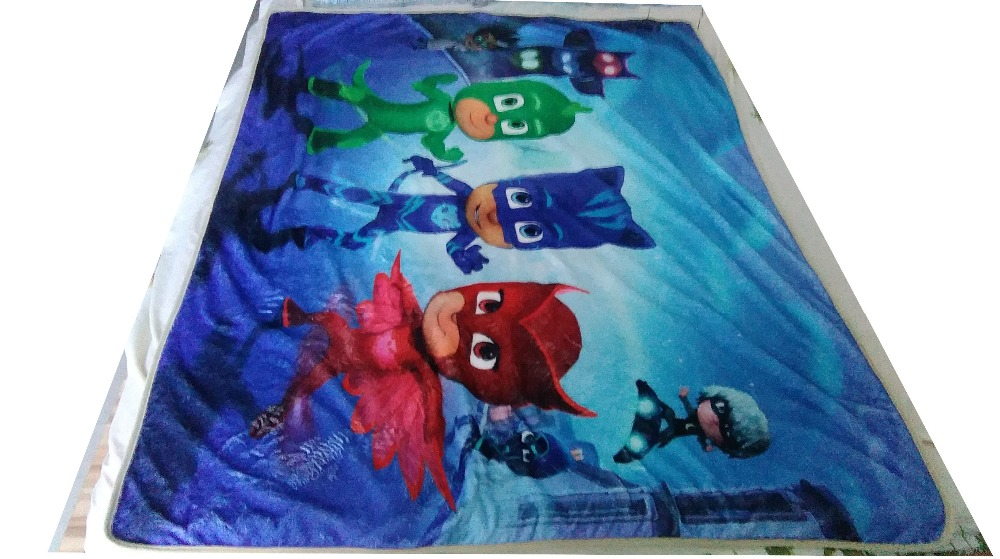 High Quality Flannel Baby Blanket 100 140 Kids PJmasks Cartoon Super Soft  Blankets Aircon Child Sheet Thick Warm Winter+Pillow-in Party Masks from  Home ... b938bda7a