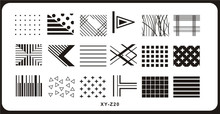 New 1PC Triangle/Diamond Designs DIY Stamping Nail Art Plate XY-Z20 Image Print Beauty Stencil Tools MAFANAILS