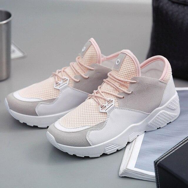 Spring Autumn Breathable Paillette Shoes Women Air Mesh Flats Lace-up Fashion Womens Casual Shoes Plus Size Sport Brand Shoes