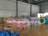 PVC bubble football/soccer inflatable adult ball pit balls for sale