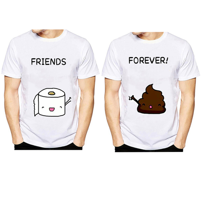 a6ff3f24 2018 best friends Forever Funny T Shirts O-Neck T shirt Men Toilet paper  and shit summer Tops Tees Casual Men's T-shirt