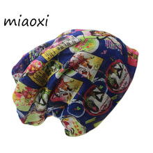 miaoxi New Fashion Female Hat Hip Hop Polyester Autumn Warm Caps Scarf Ladies Beanies Knitted Girls