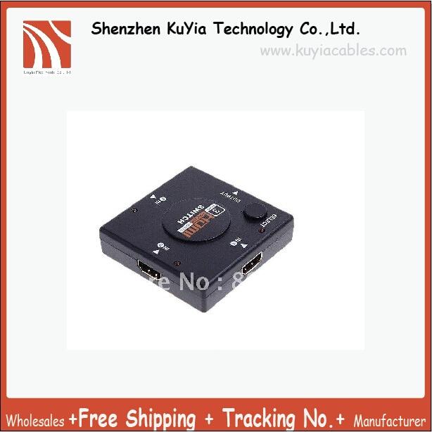 KUYiA Mini 3 Port 1080P Video HDMI Switch Switcher HDMI Splitter HDMI Port