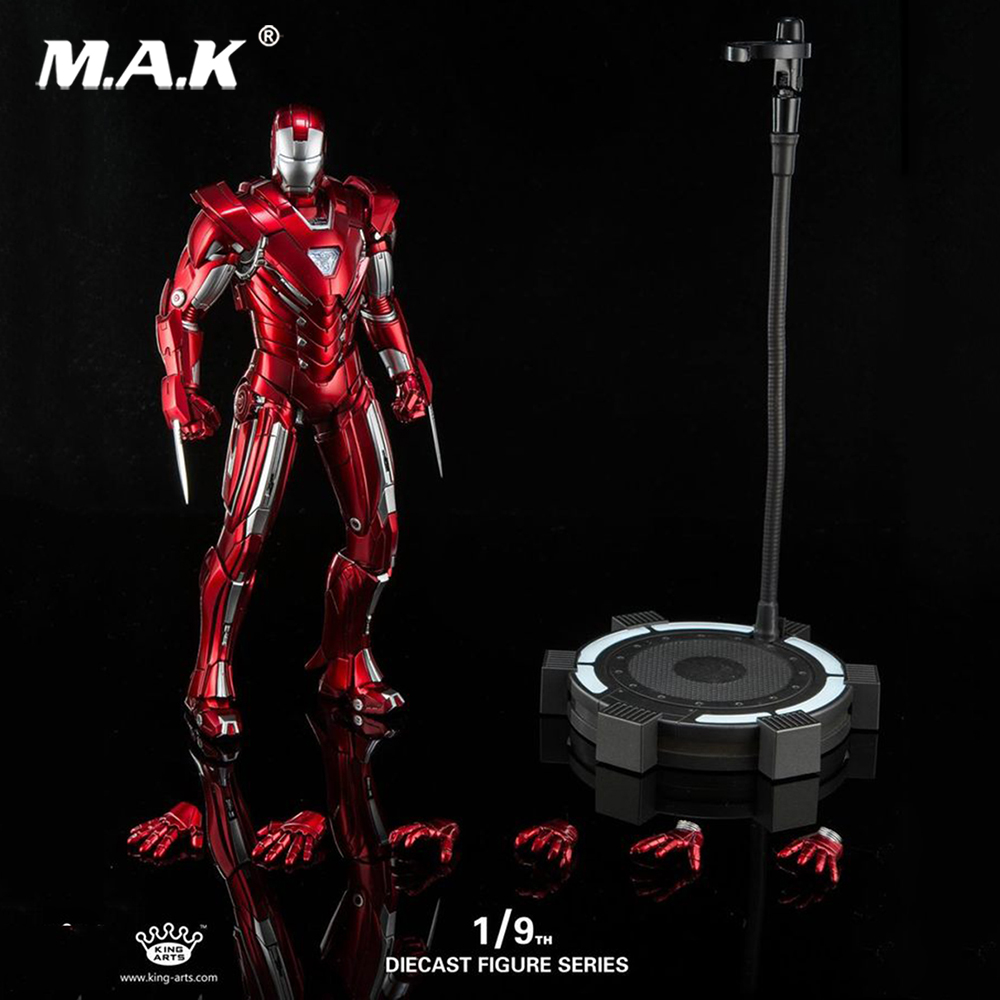 King Arts DFS028 Diecast Mark33 Iron Man Silver Centurion Figure 1/9 Scale Alloy movable iron man action figure цена