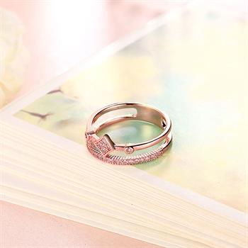 Trendy Gold Color Square Eternity Love Wedding Ring Fashion Cubic Zirconia  Piercing Women Jewelry Anting Wanita Cantik Bijoux In Rings From Jewelry ...
