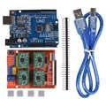 Tarcza cnc karta rozszerzenia V3.0 + 4 sztuk A4988/DRV8825 sterownik silnika krokowego z radiatorem z UNO R3 zarząd na Arduino zestawy