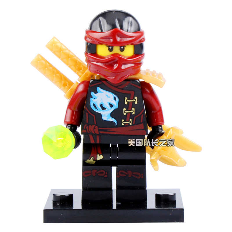 8pcs Ninjago Block Figure Cole Kai Jay Lloyd Nya Black Dogshank Nadakhan Ninja Building Bricks Toy Compatible With Lego