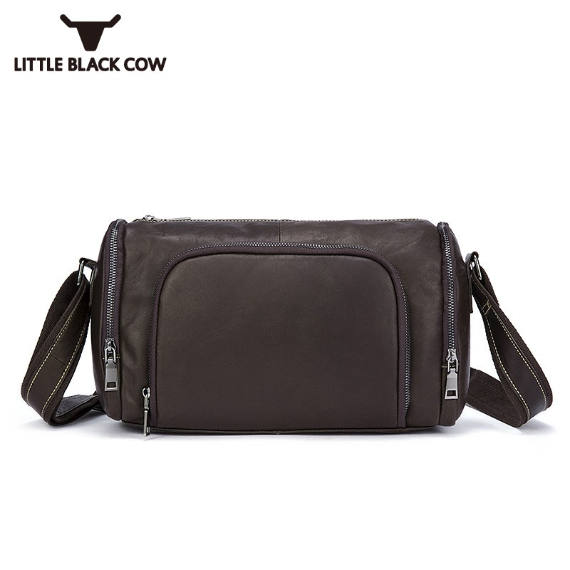 New Korean Style Crossbody Bag Men Hobos Travel Cow Leather Shoulder Bags Mens Top Quality Casual Travel Sling Bag Sacoche Homme цена