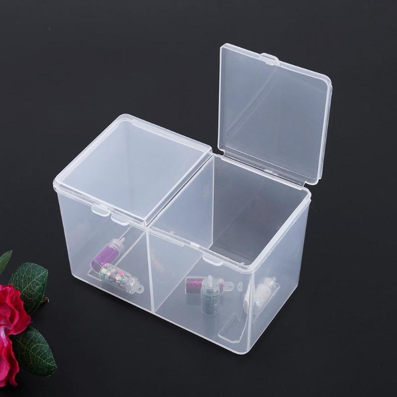 1 предмет Многофункциональный Дизайн ногтей салфетки чистой колодки коробка для хранения двойной сетки Ватные диски Маникюр для снятия лак...