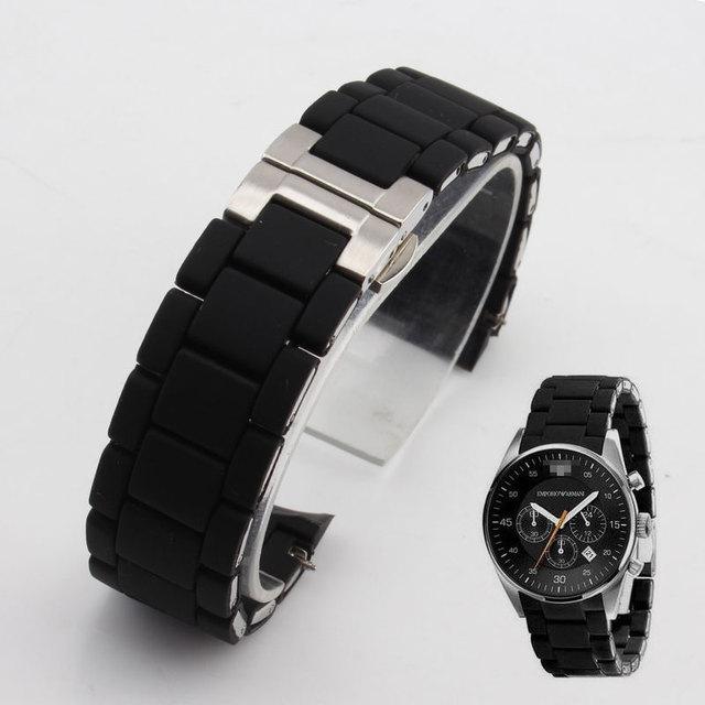 Мужские наручные часы Emporio Armani с кожаным, текстильным ремешком