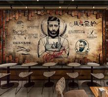 Custom wallpaper mural retro barber shop beauty salon background wall
