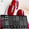 Сара маникюрный салон 1 шт. любовное письмо / цветок / сетка печать ногтей шаблоны штамп штамповки пластины ногтей трафареты DIY инструмента XY-J15