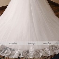 Lover Kiss Vestido De Noiva 2018 V-neck Bridal Ball Gowns Sleeveless Wedding Dresses Lace Appliques Body Real Image robe mariage 6