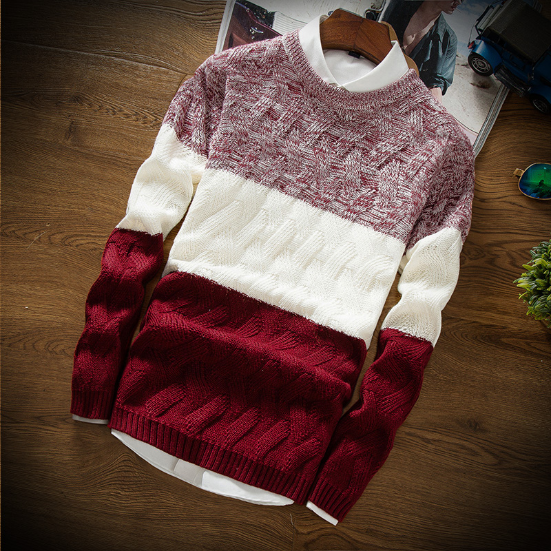 Winter Men Sweater Youth Fashion Casual Best-selling Pullover Sweater Men S M L XL 2XL Mens Sweaters