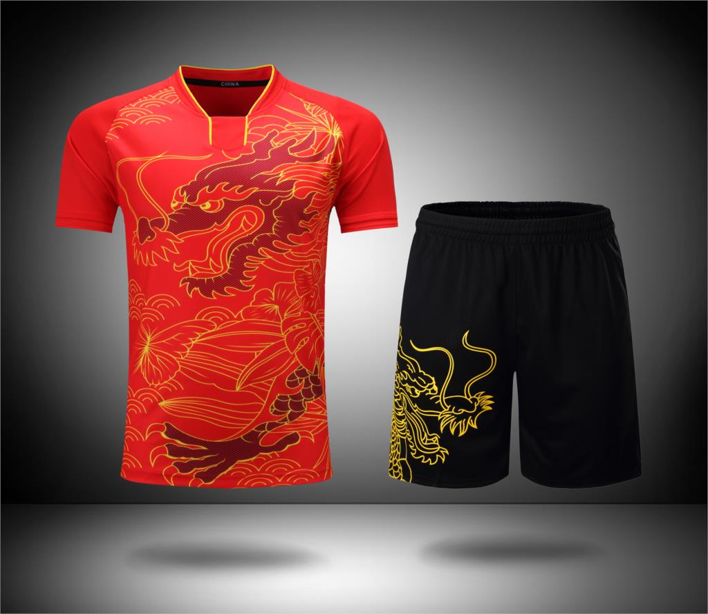 New Team China Table Tennis Clothes  Women / Men Table Tennis Suit Pingpong Clothes Ma /Zhang Uniforms Pingpong Training Set