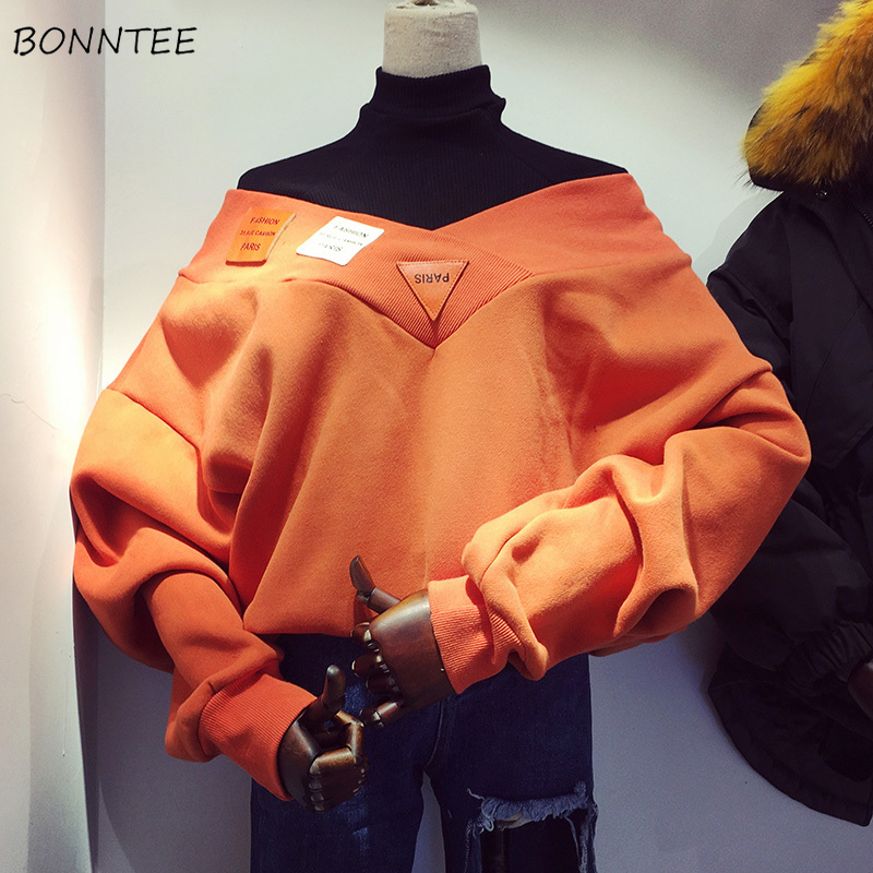Hoodies Women Chic Letter Printed Plus Velvet Thicker Fake Two Piece Womens Outwear Harajuku Knitted Students Elegant Turtleneck