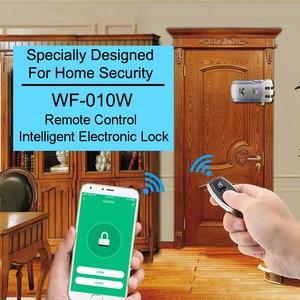 Image 2 - Wafu 010 ワットワイヤレス wifi スマートドアロック電子ドアロックアプリでリモートロック解除 4 リモートキー