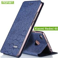 Xiaomi Redmi 4X Case cover Flip leather Xiami Redmi 4x Case Silicone TPU back Original MOFi redmi4x case hard metal 5.0 capas