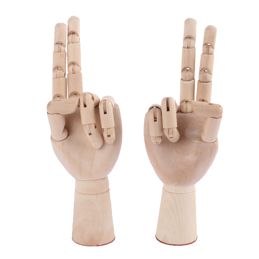Wooden Hand Models 3