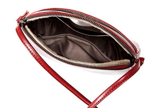 couro genuíno pequeno escudo bolsa de ombro