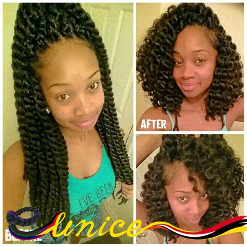 "African Hair Style Black Women Hair 18"" Synthetic Braiding Hair Extension Havana Mambo Twist ..."