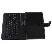Free Shipping Protective leather Keyboard Case 7 inch Tablets micro USB keyboard 7 inch Q8 MTK8312 MTK6572 MTK8382 all work