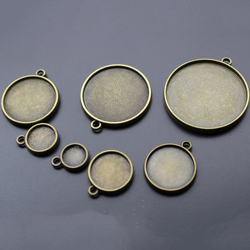 50Round Blank Cabochon Base Tray Bezels Blank Setting For DIY Jewelry Making