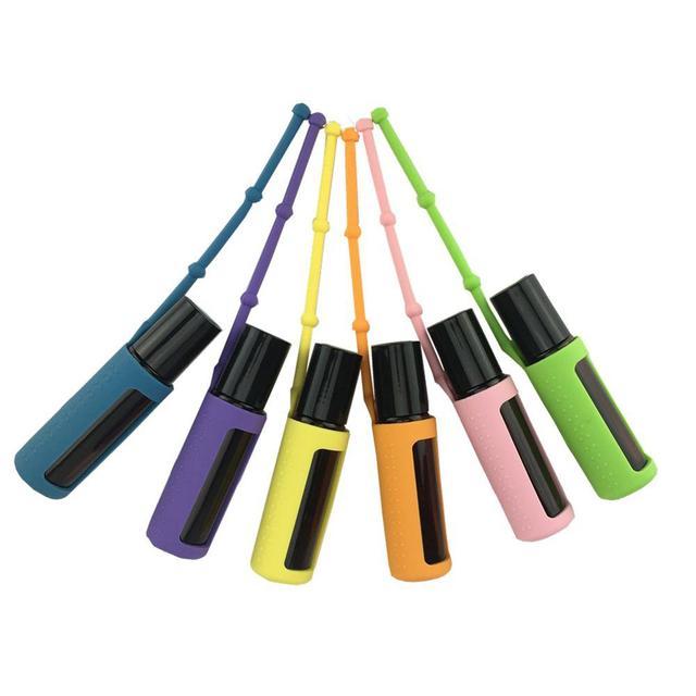1 шт силиконовый чехол для эфирного масла 15 мл 10 мл 5 мл защита для бутылки Защитная крышка разные цвета для путешествий аксессуары Организатор