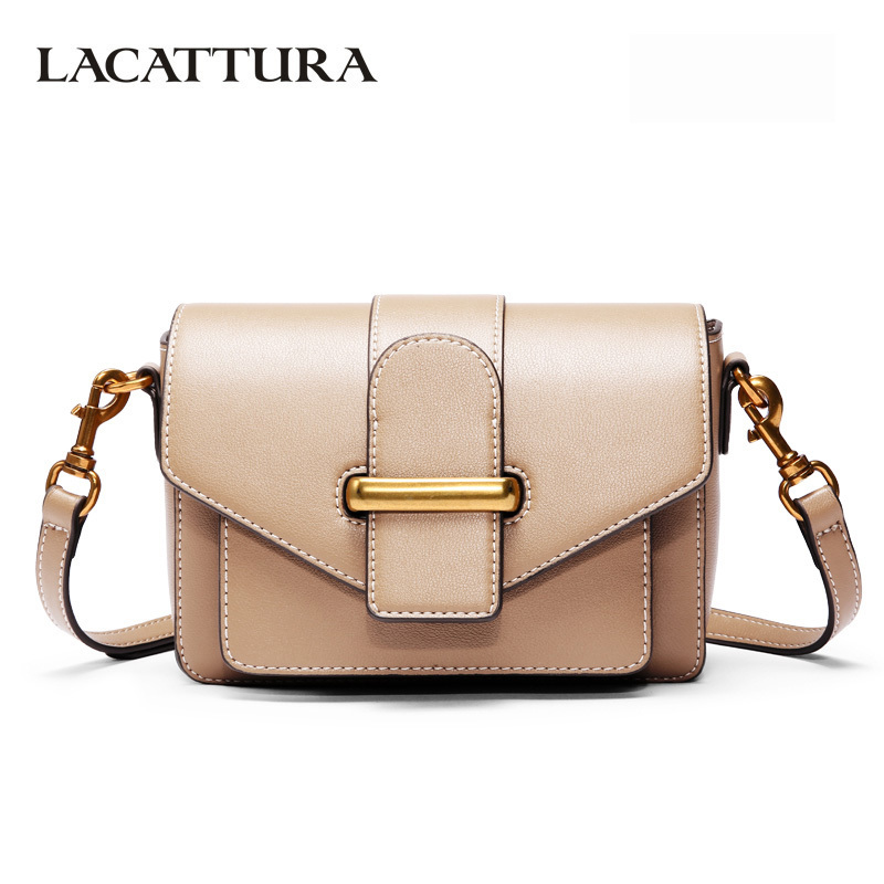 LACATTURA femmes Vintage Messenger Mini Sac bandoulière de luxe en cuir Sac à main 2019 mode sacs à bandoulière Designer petit Sac d'embrayage