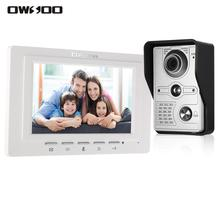 Video-Doorbell Visual-Intercom Outdoor-Camera Audio-Remote Wired 7inch with IR-CUT Rainproof