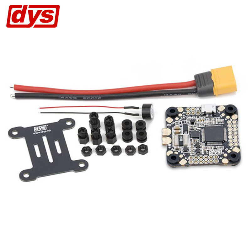 Actualización DYS 30,5x30,5mm F4 Pro V2 controlador de vuelo AIO OSD y 5 V 9 V 3,3 V de BEC & Sensor de corriente para modelos RC multicóptero