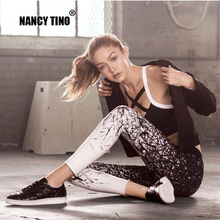 NANCY TINO Yoga Pants For Women Sports Clothing Printed leggings Fitness Running Tights Sport Compression