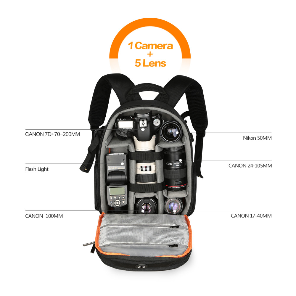 High quality Waterproof multi functional Digital DSLR Camera Video Bag Small SLR Camera Bag for Photographer-in Camera/Video Bags from Consumer Electronics    2