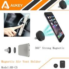 AUKEY 360 Grados de Coche Universal Air Vent Mount Holder Magnética Smartphone Muelle Soporte para Teléfono Móvil, Teléfono celular Titular Stand