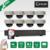 Plug And Play P2P POE 8CH NVR Sistema de CCTV 3 TB HDD 1080 P Câmera IP POE HD Kit De Vigilância de Segurança Cúpula Interior IR Noite Vison