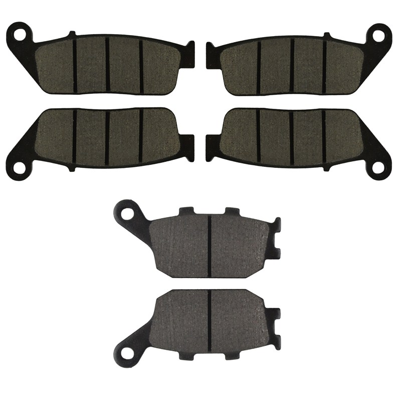 Motorcycle Front and Rear Brake Pads for HONDA CB 600 CB600 F2Y/F21/F22 Hornet S 2000-2004 Brake Disc Pad Kit motorcycle front and rear brake pads for honda gl1500 gl1500se gl1500l goldwing gl1500 se l 1990 2000 black brake disc pad set