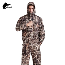 MULTICAM Uniform Reed Bionic Camouflage Tactical Suit Slim Fat Sniper Suit Hunting Waterproof Clothing L-4XL BF122