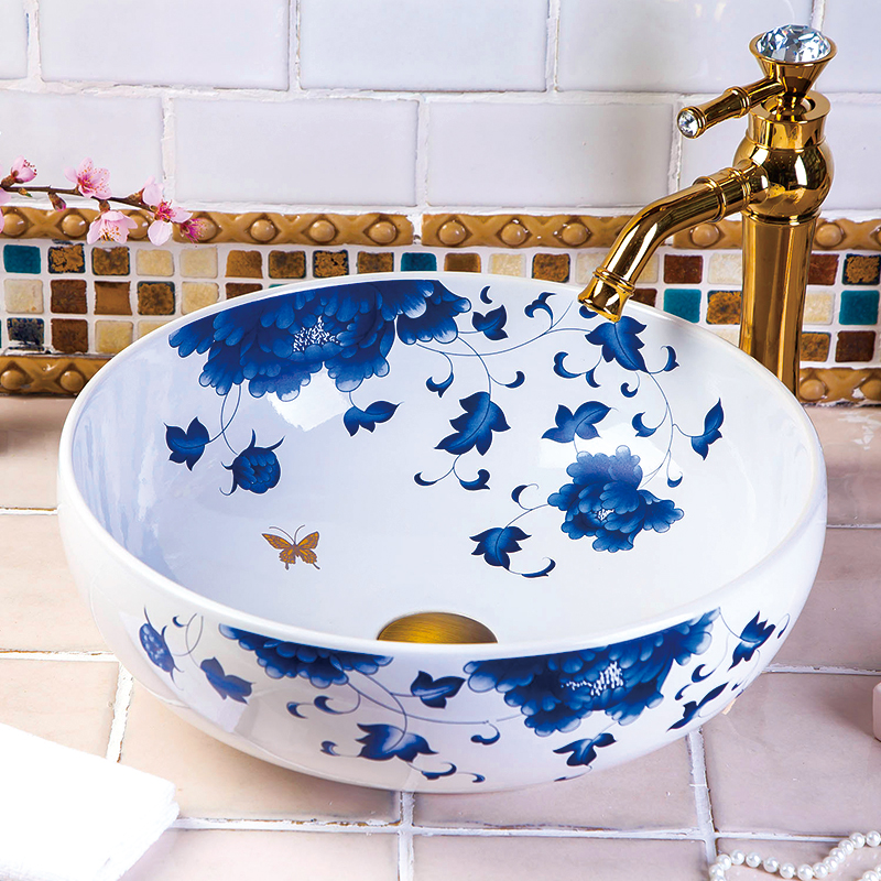 Best selling porcelain ceramic white hand made bathroom sinks for toilet also stately gold silver color art porcelain ceramic bathroom sinks