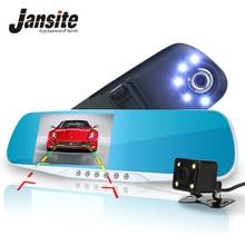 Jansite Ночное видение автомобильный видеорегистратор детектор Камера синий отзыв зеркало видеорегистратор Цифровой Регистраторы Авто видеокамеры регистраторы FHD 1080 P