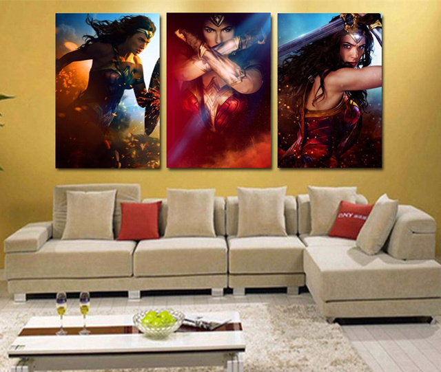 3 Piece Unframed Canvas Painting Wall Art Poster
