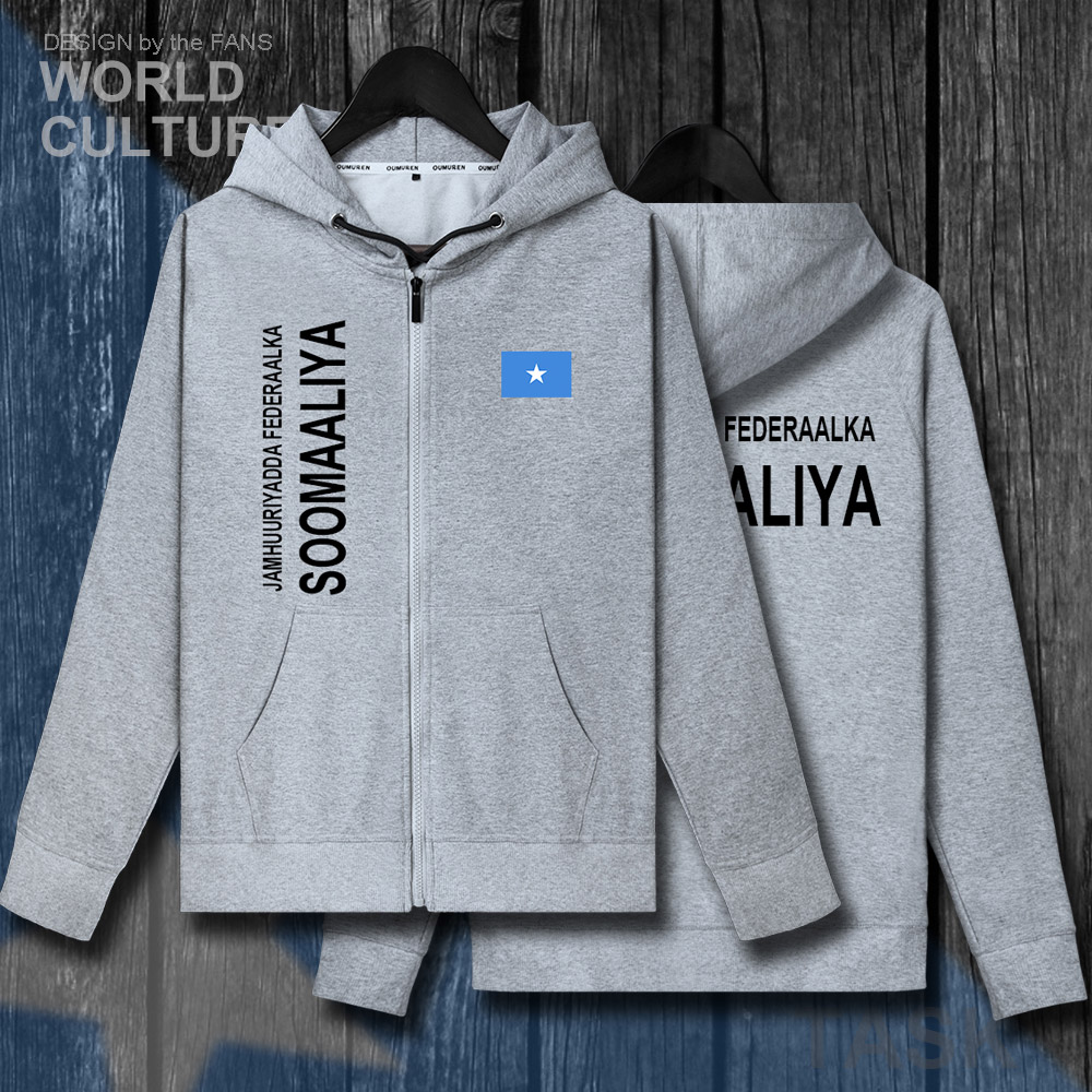 Somalia Somali Soomaaliya SOM SO mens zipper fleeces hoodies winter jerseys men jackets and coats clothes nation sweatshirt new