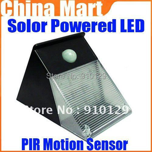PIR Motion Sensor Solar Powered LED Garden Wall Light Landscape Lamp