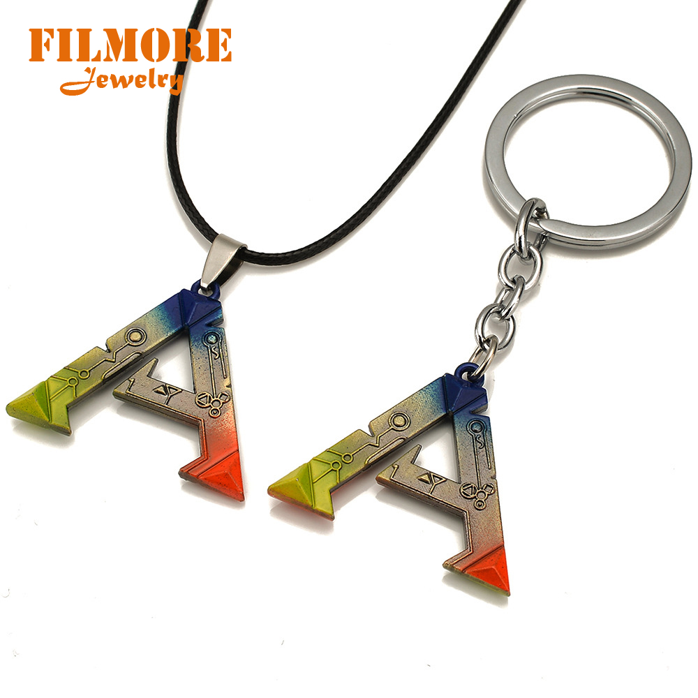 ARPG Game ARK Survival Evolved Logo Choker Necklace & Pendant For Men Fashion Jewelry Unreal Engine 4 Online Game Fans Gifts image