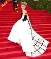 V-образным вырезом Red Carpet Платья Онлайн платье Сара Джессика Паркер Платья Знаменитостей