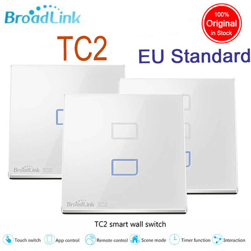 Broadlink EU Standard, Wireless Remote Control Light Wall Switch  Touch Wall Light Switch, 110V-240V Light Switch For Smart Home broadlink eu standard tc2 1 gang wireless control light switch crystal glass panel touch wall switch light switch for smart home