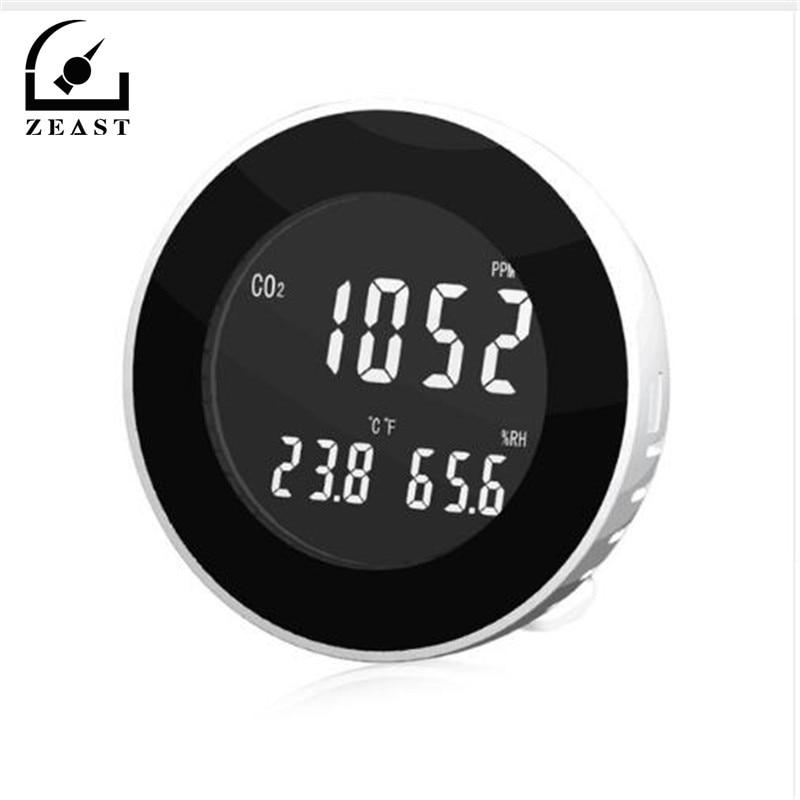 3 in 1 Co2 Meter Temperature Hygrometer Digital Portable Gas Leak Detector Analyzer co2 Monitor Tester HT-501 недорого
